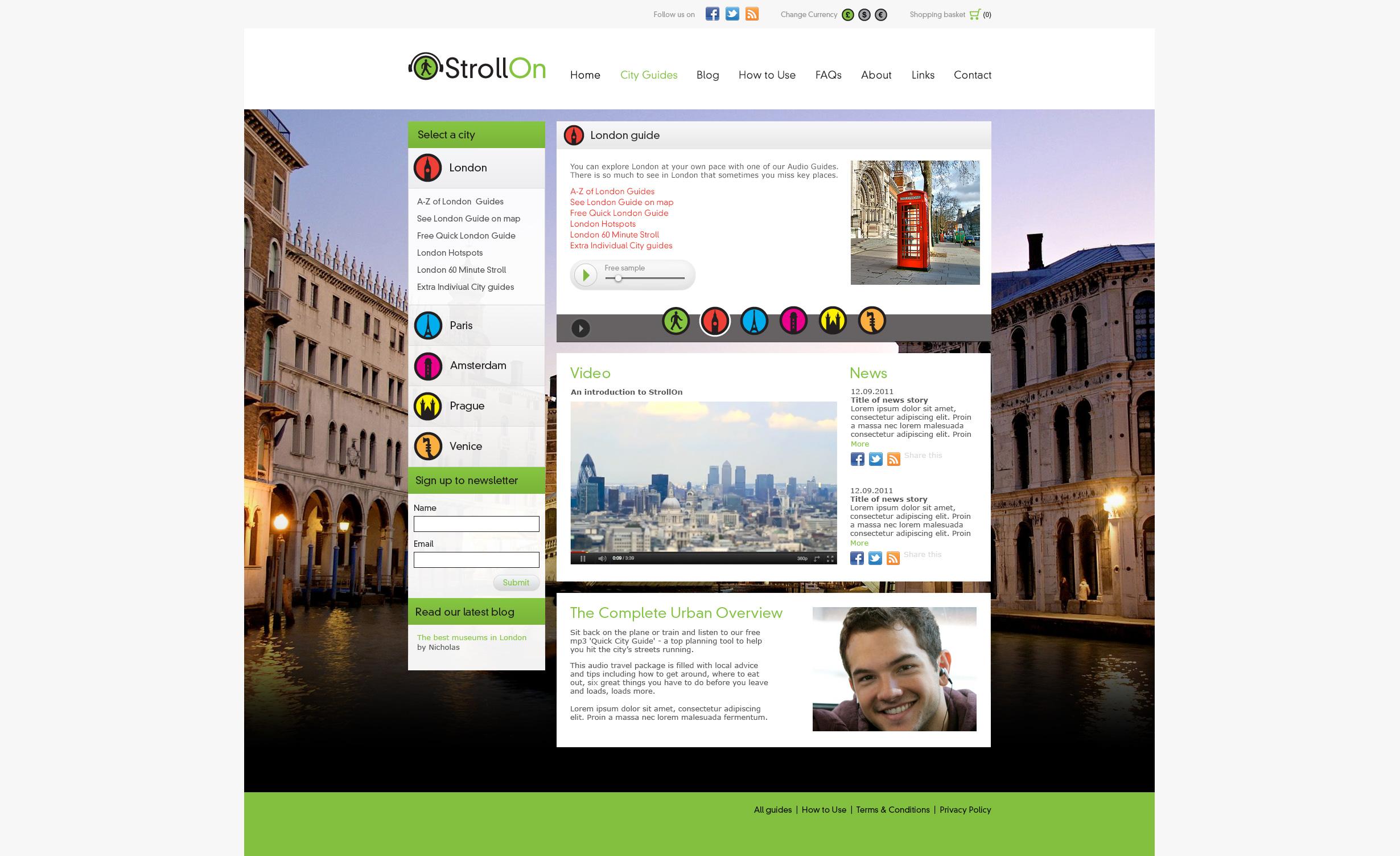 StrollOn website