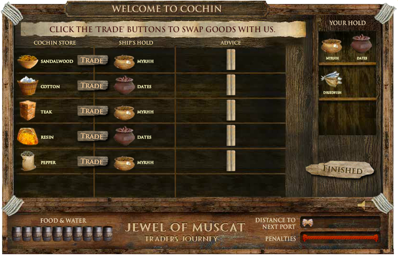 Jewel of Muscat trading screen