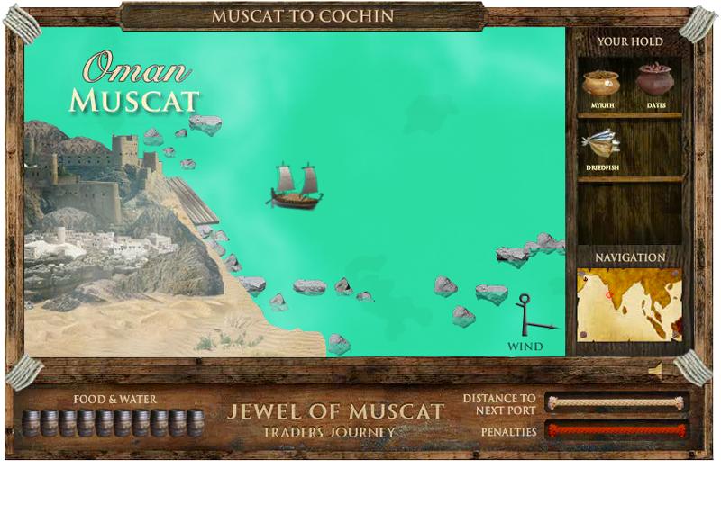 Jewel of Muscat gameplay screen