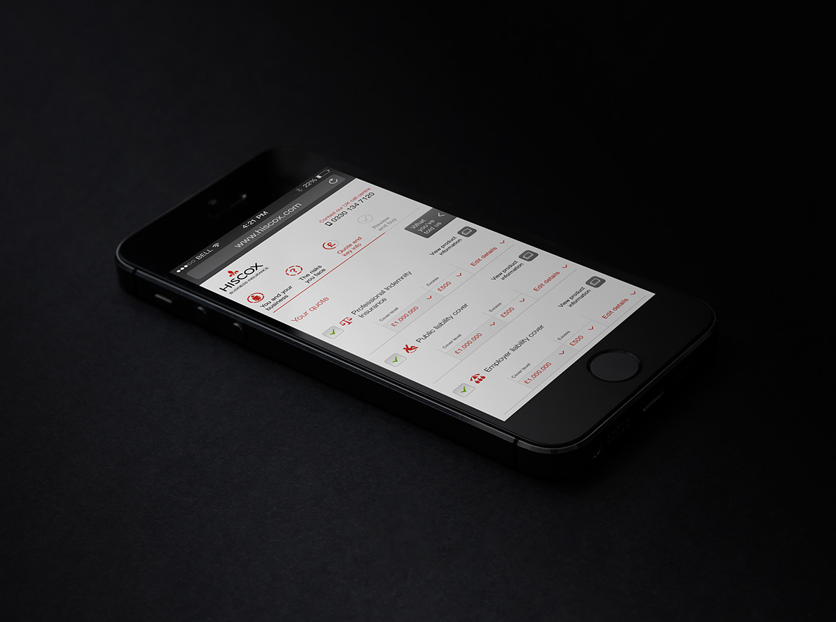 Hiscox-Business Insurance -iPhone