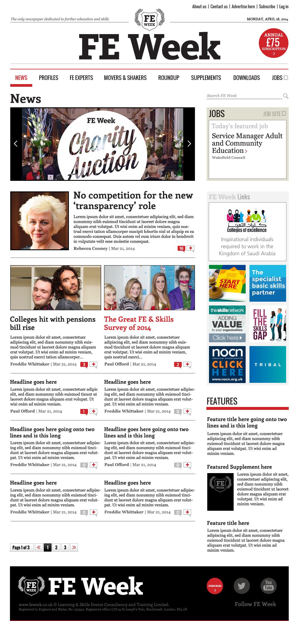 FE Week homepage