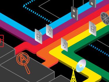 Technicolor isometric animated diagram