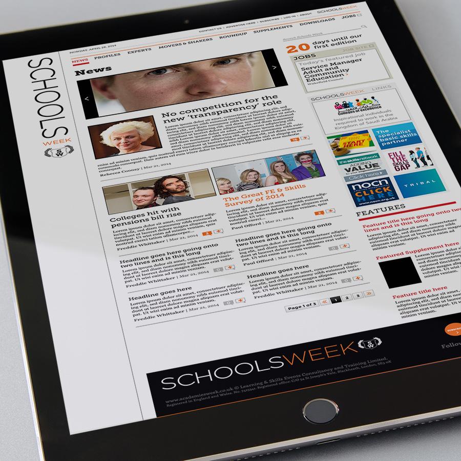 SchoolsWeek iPad