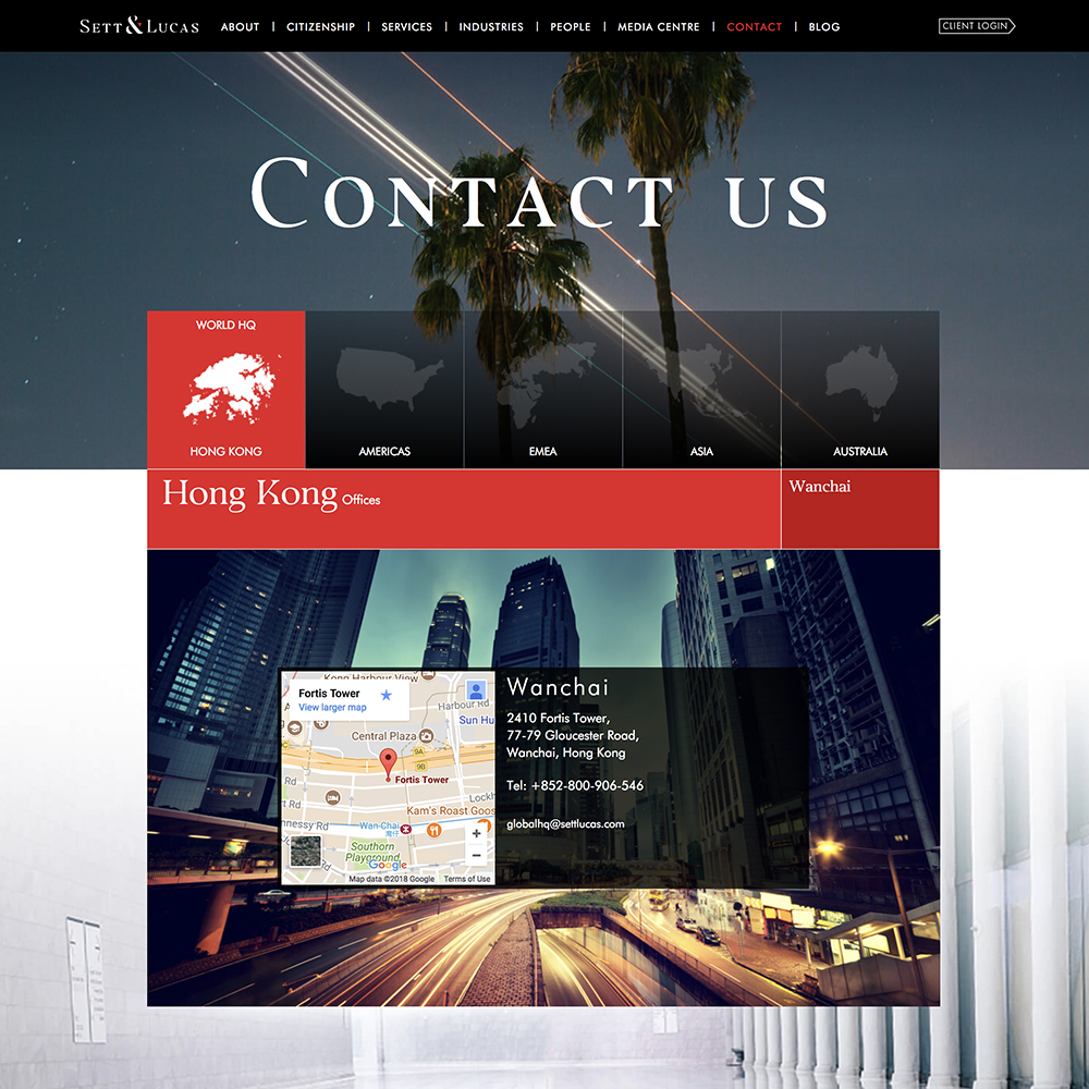 Corporate website design & development